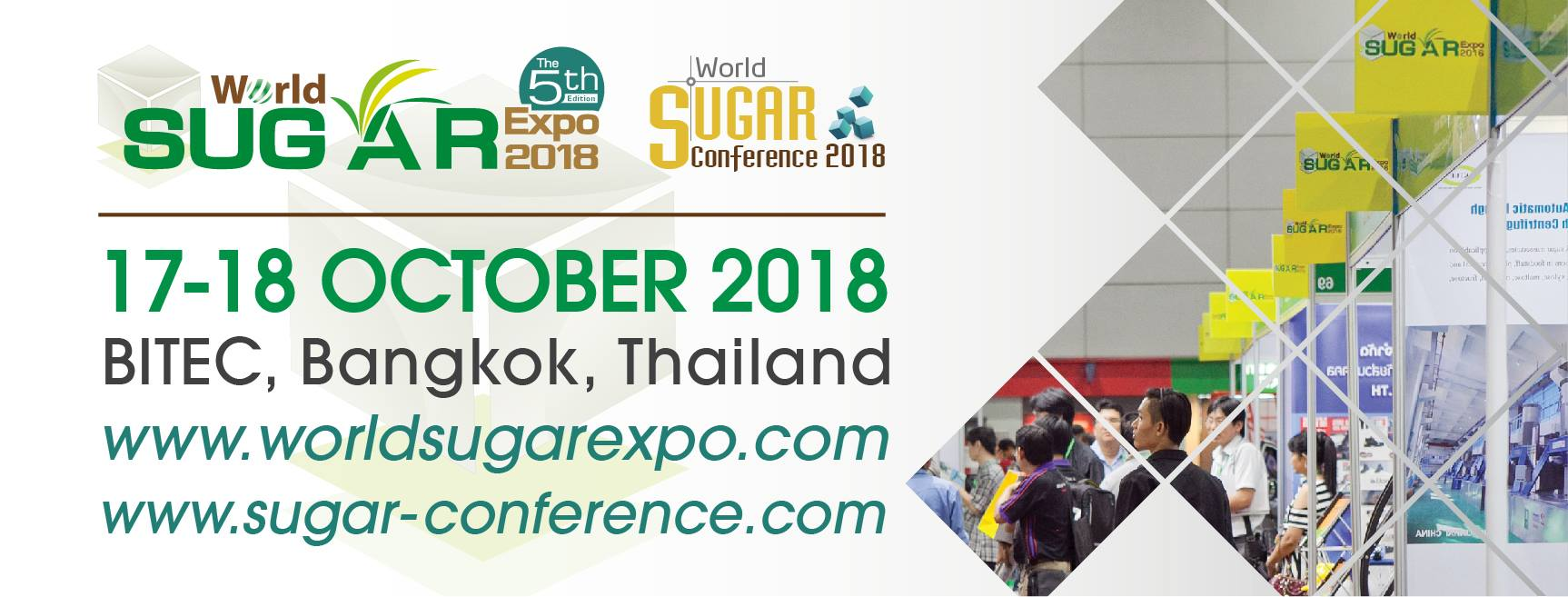 World Sugar Expo & Conference 2018 : 17-19 October 2018